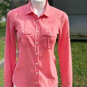 J CREW the perfect shirt/long sleeve xs